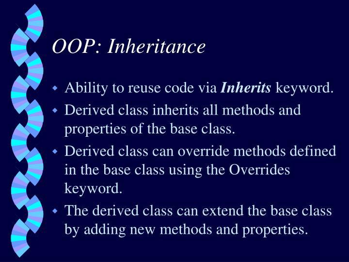 OOP: Inheritance