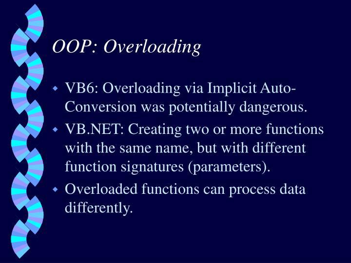 OOP: Overloading