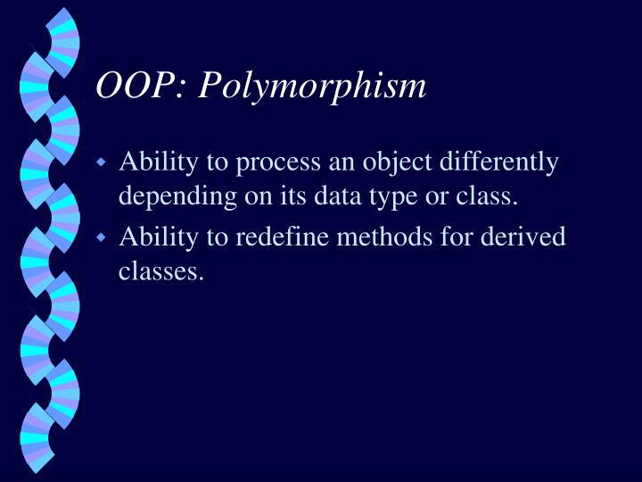 OOP: Polymorphism