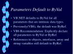 parameters default to byval