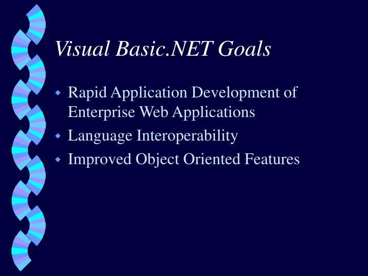 Visual Basic.NET Goals