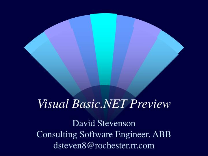 visual basic net preview