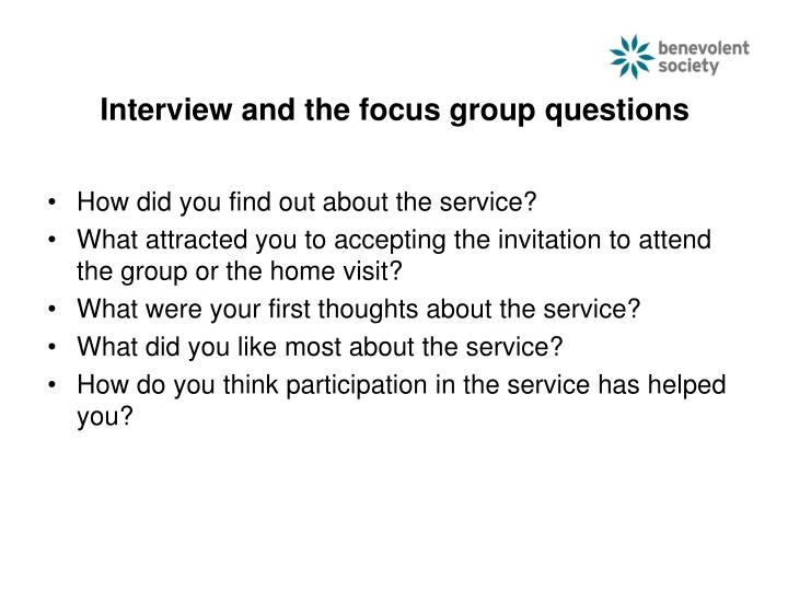 Interview and the focus group questions