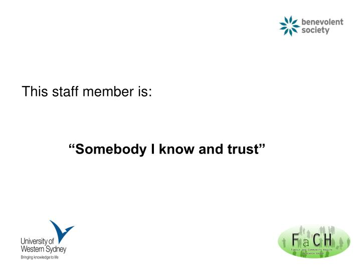 This staff member is: