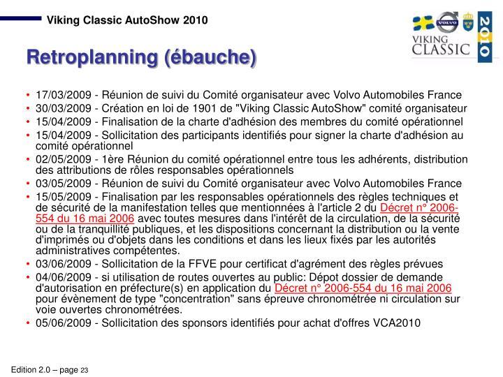17/03/2009 - Réunion de suivi du Comité organisateur avec Volvo Automobiles France