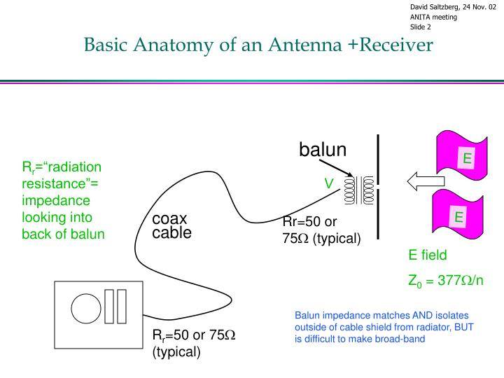 Basic anatomy of an antenna receiver