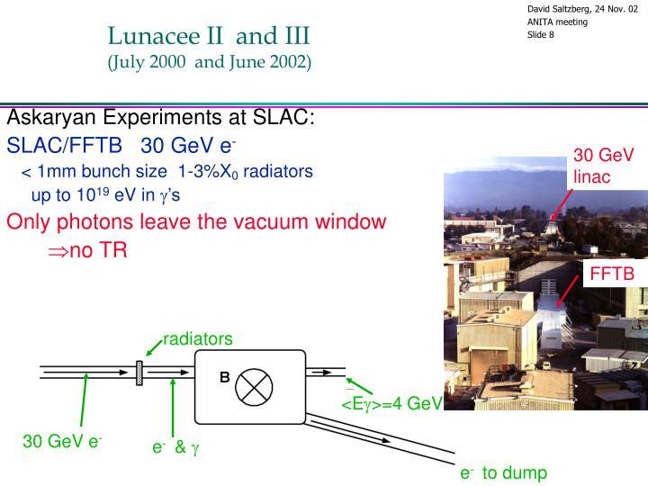 Lunacee II  and III
