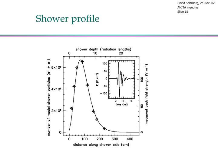 Shower profile
