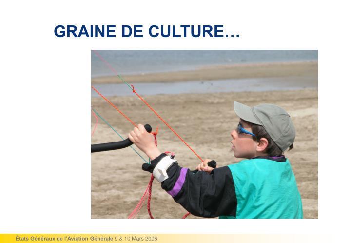 GRAINE DE CULTURE…