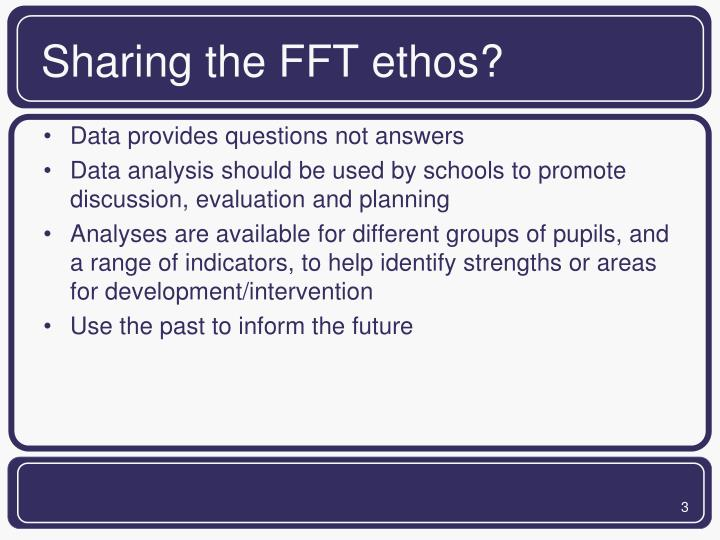 Sharing the FFT ethos?