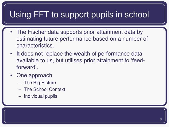 Using FFT to support pupils in school