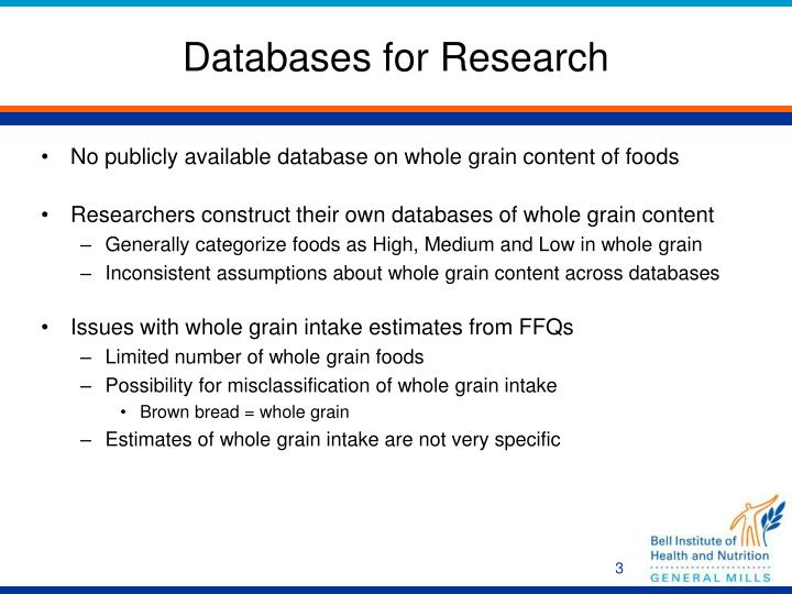 Databases for Research