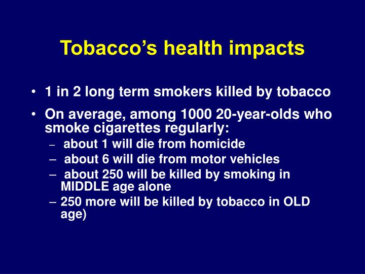 Tobacco's health impacts