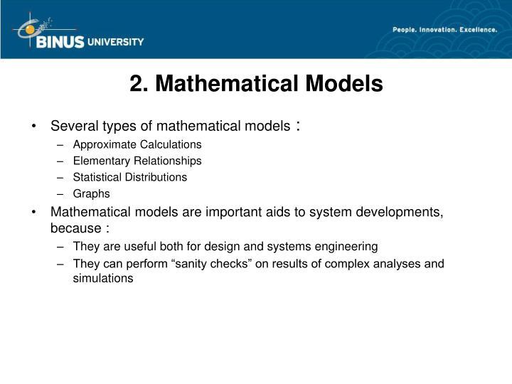 2. Mathematical Models
