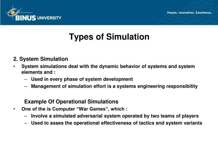 Types of Simulation