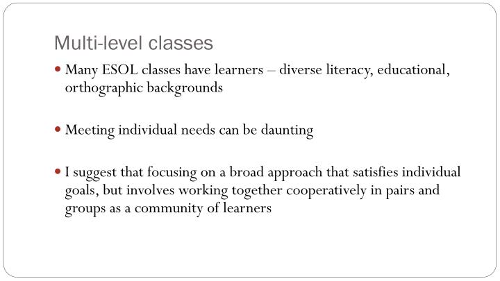 Multi-level classes