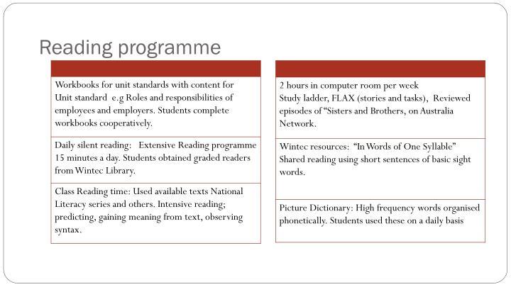 Reading programme