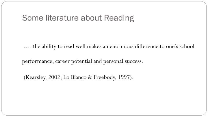 Some literature about Reading