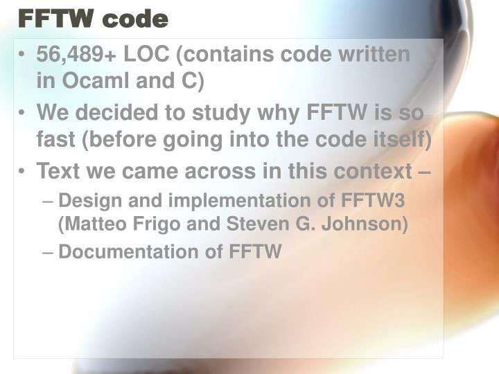 FFTW code