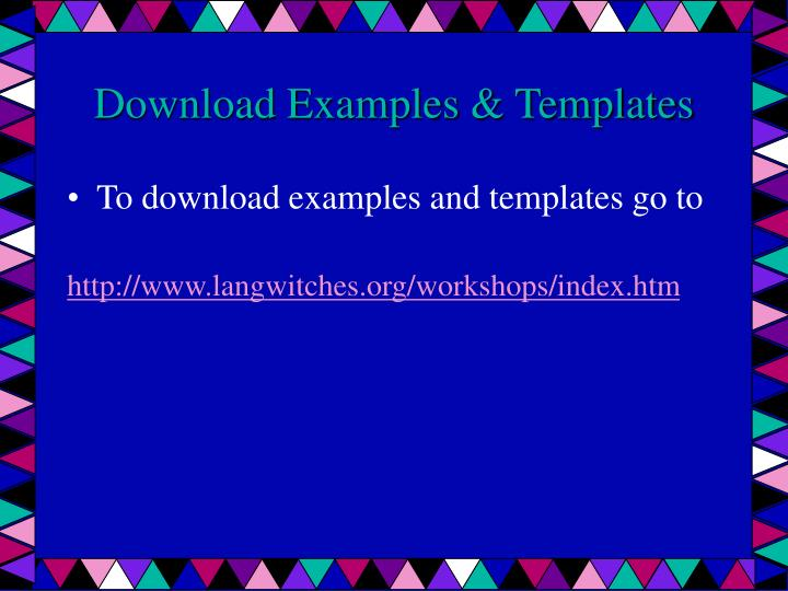 Download Examples & Templates