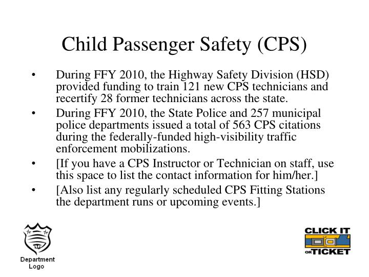 Child Passenger Safety (CPS)