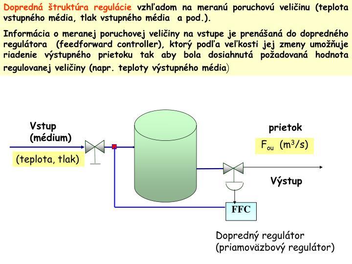 Dopredná štruktúra regulácie