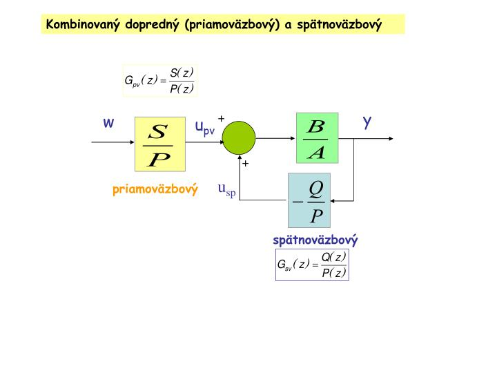 Kombinovaný dopredný (priamoväzbový) a spätnoväzbový