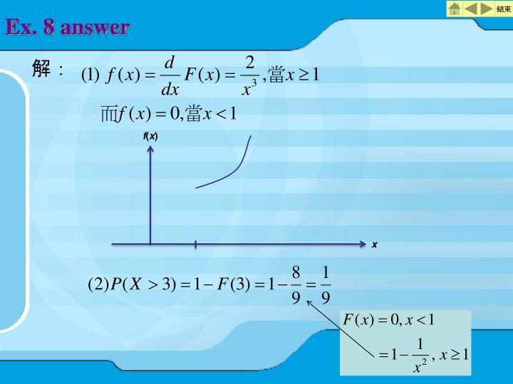 Ex. 8 answer