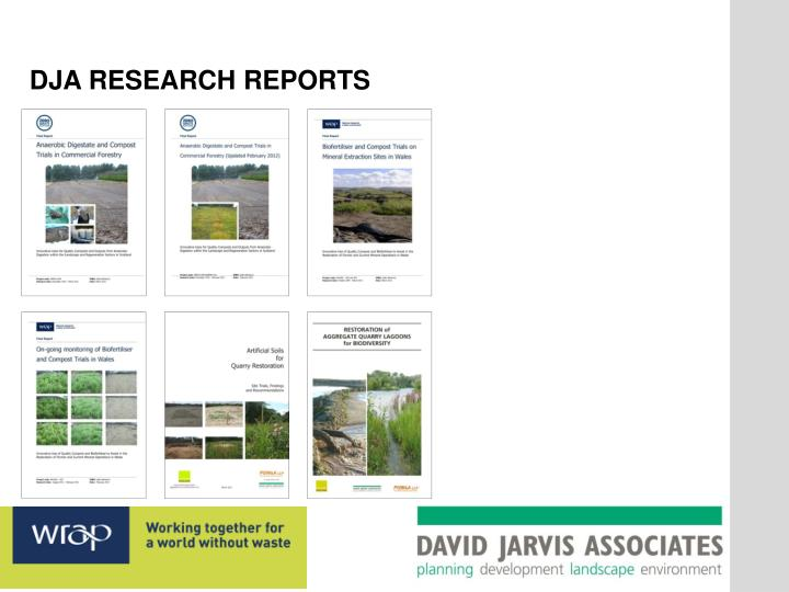 DJA RESEARCH REPORTS