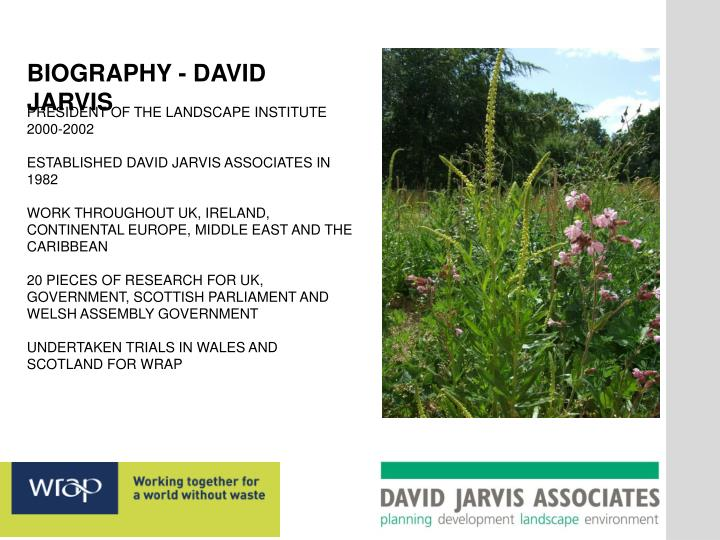 BIOGRAPHY - DAVID JARVIS