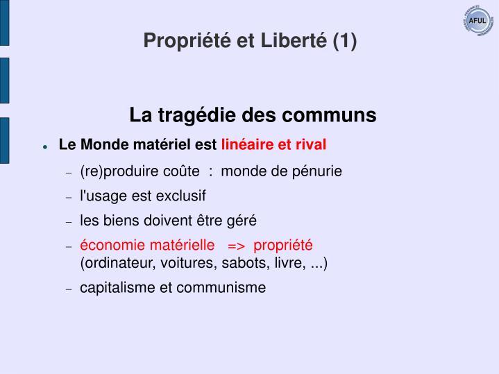Propriété et Liberté (1)