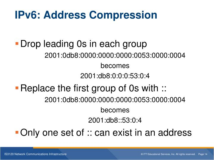 IPv6: Address Compression