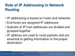 role of ip addressing in network routing