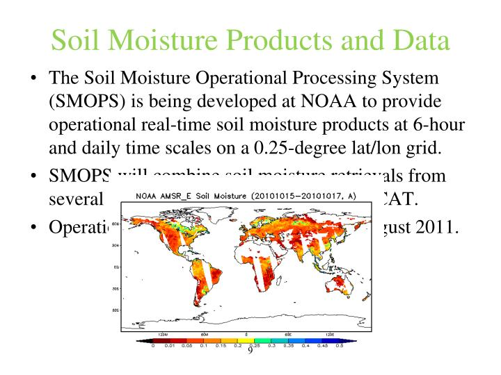 Soil Moisture Products and Data