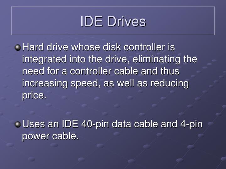 IDE Drives