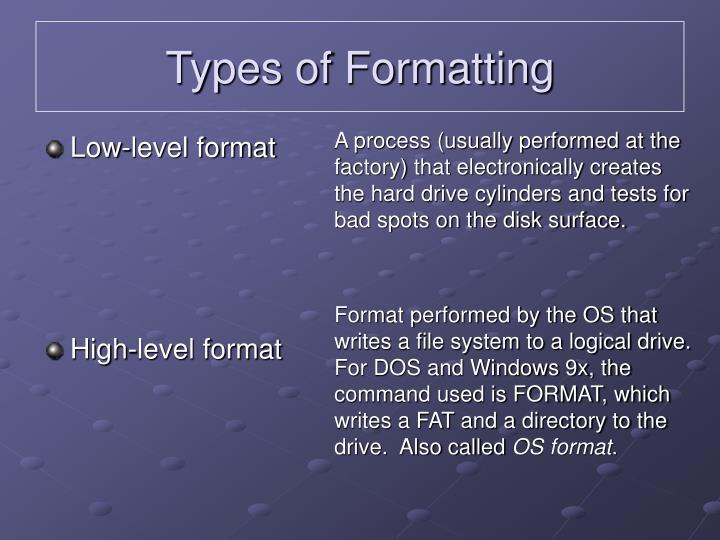 Low-level format