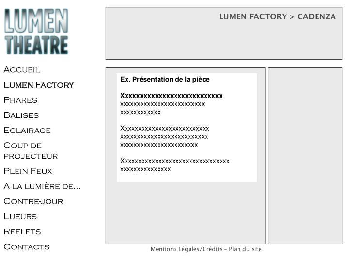 LUMEN FACTORY > CADENZA