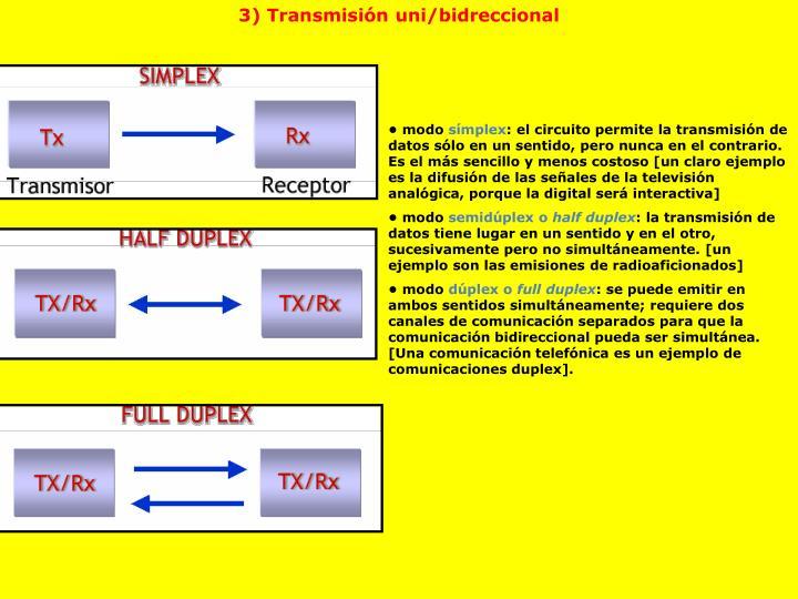 3) Transmisión