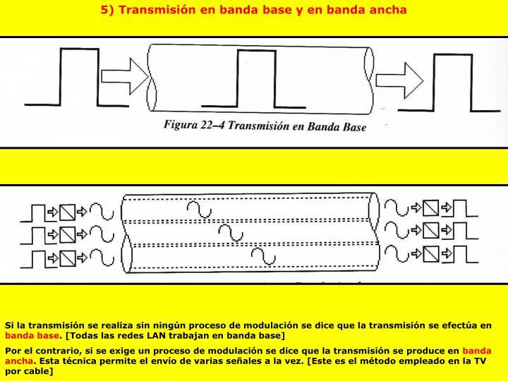 5) Transmisión en banda base y en banda ancha