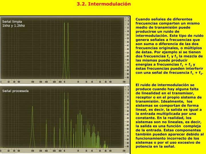 3.2. Intermodulación