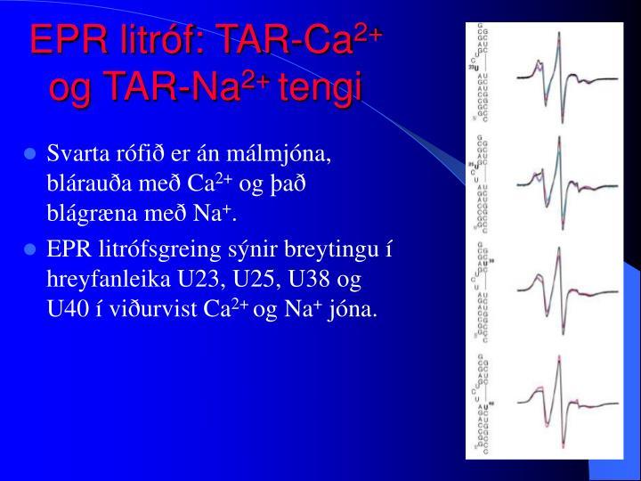 EPR litróf: TAR-Ca