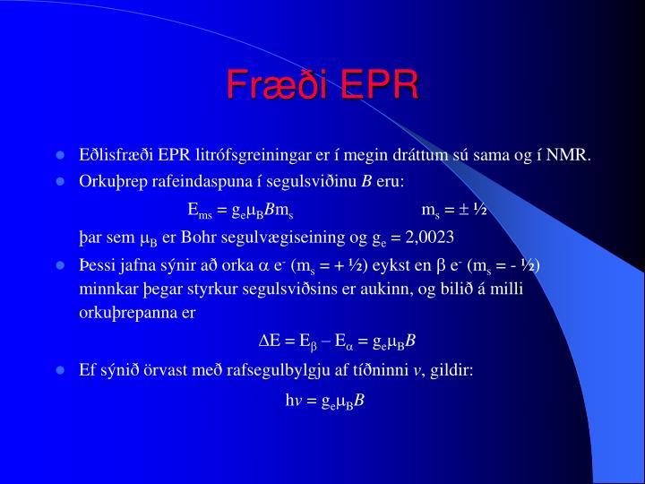 Fræði EPR