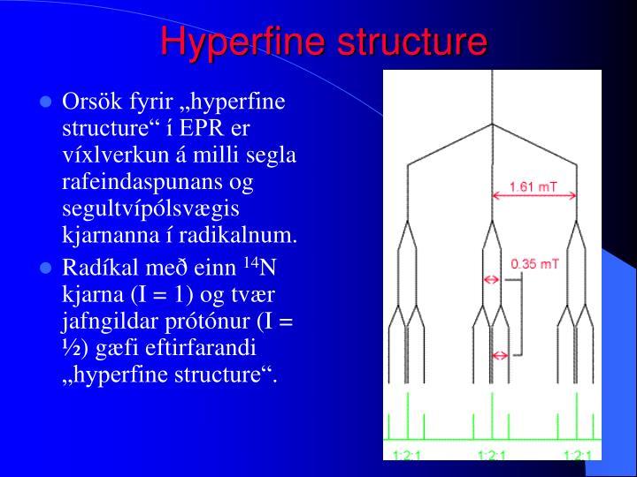 Hyperfine structure