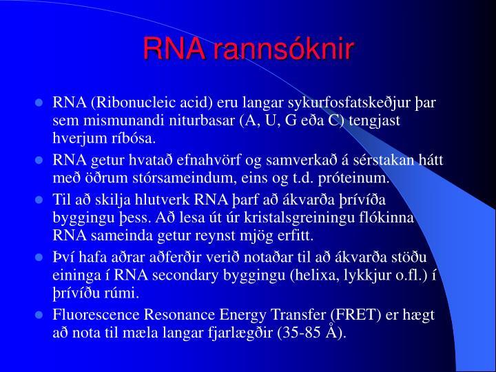 RNA rannsóknir