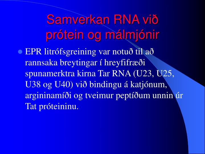 Samverkan RNA við