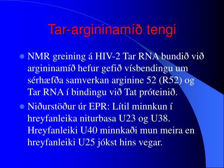 Tar-argininamíð tengi
