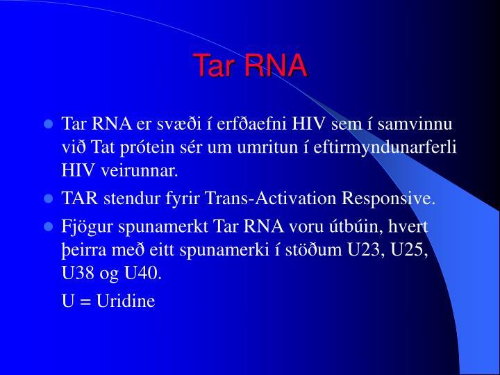 Tar RNA