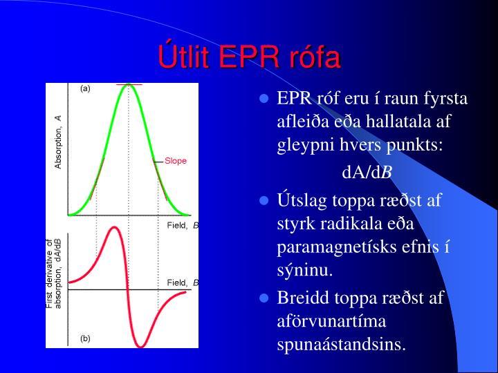 Útlit EPR rófa
