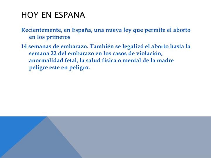 Hoy En ESPANA