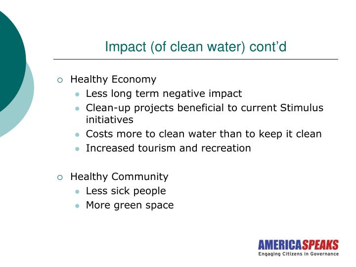 Impact (of clean water) cont'd